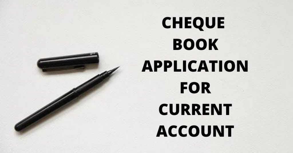 cheque book application in hindi